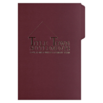 Legal File Folders Design for Title Town Settlements