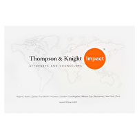 Promotional CD/DVD Packaging for Thompson & Knight