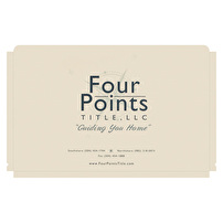 Branded Legal File Folders for Four Points Title, LLC