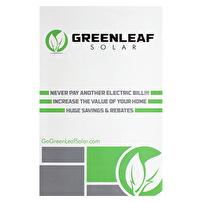 Rack Cards Printed for Greenleaf Solar