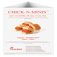 Printed Table Tents for Chick-fil-A