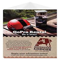 Custom Table Tents for Adventure Lodges of Georgia