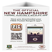 Promotional Table Tents for New Hampshire Fish and Game Department