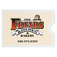 Branded Document Sleeves for The Friars Kitchen & Bakery