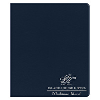 Promotional Leather Like Binders for Island House Hotel