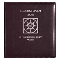 Custom Leather Like Binders for Sterling Federal Bank
