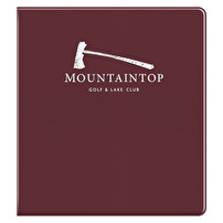 Printed Vinyl Binders for Mountaintop Golf & Lake Club