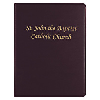 Branded Leather Like Binders for St. John the Baptist Catholic Church