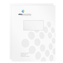 Promotional Two-Piece Report Covers for OBM Associates