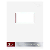 Custom Two-Piece Report Covers for SKW CPAs & Advisors PLLC