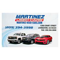 Short Run Presentation Folders Printed for Martinez Used Cars