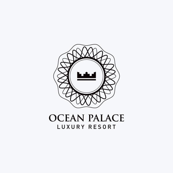 Logo Design - Ocean Palace Luxury Resort