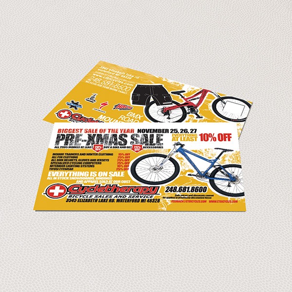 Print Design - Cycle Therapy Business Cards