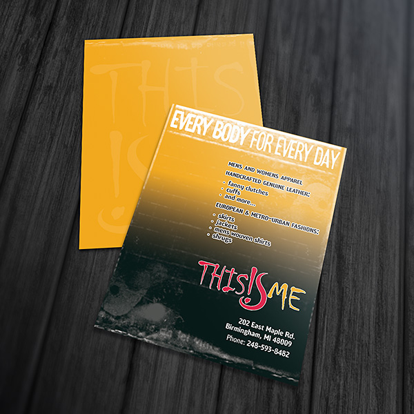 Print Design - This Is Me Postcards