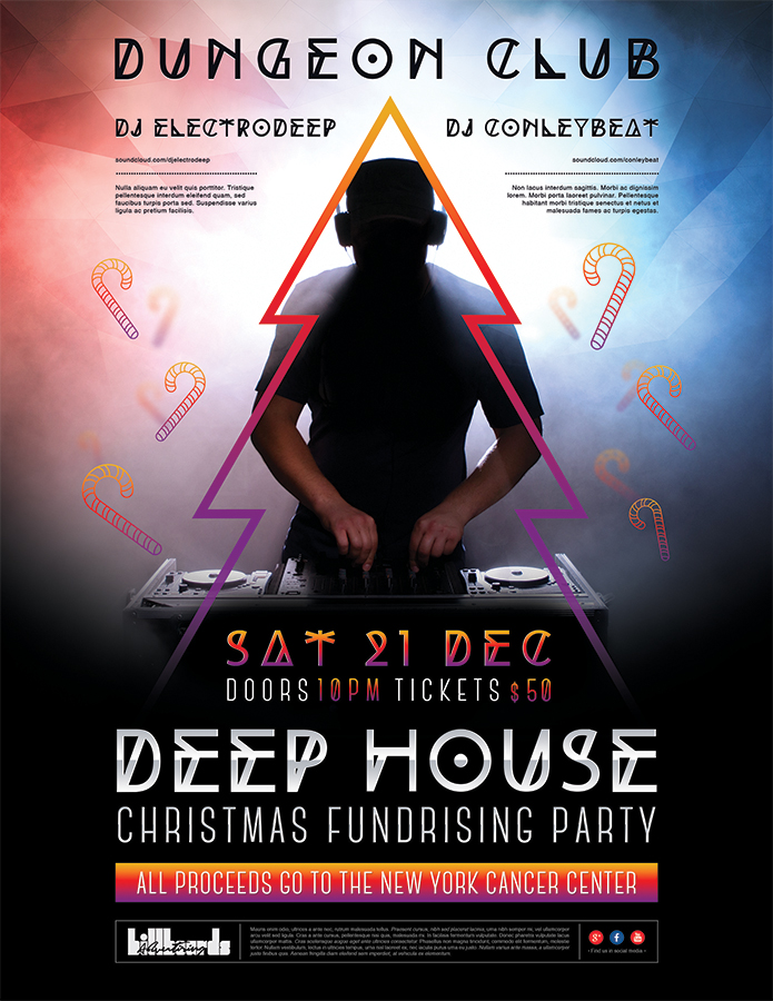 Print Design - Christmas Fundrising Party