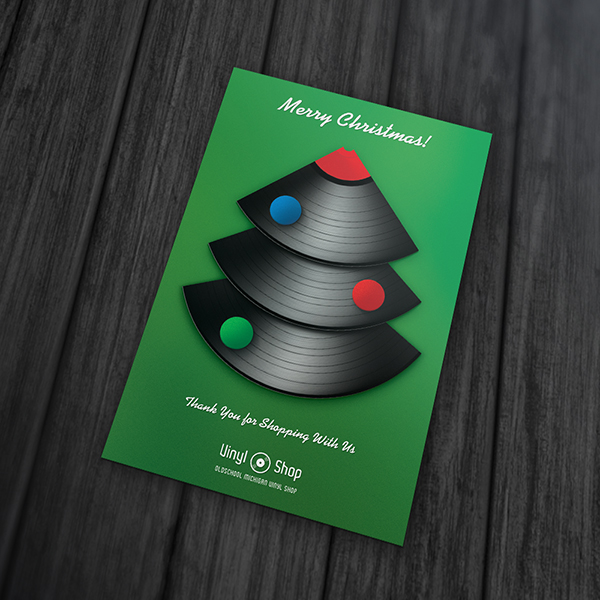 Print Design - Christmas Vinyl Thank You