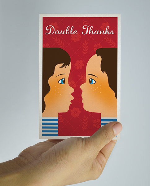 Print Design - Double Thanks