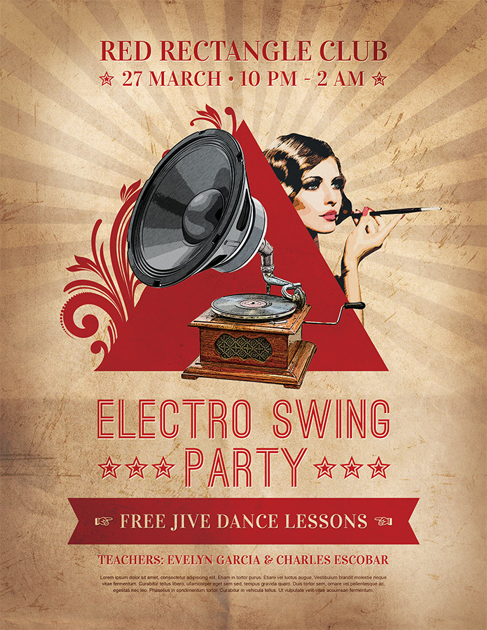 Print Design - Electro Swing Party