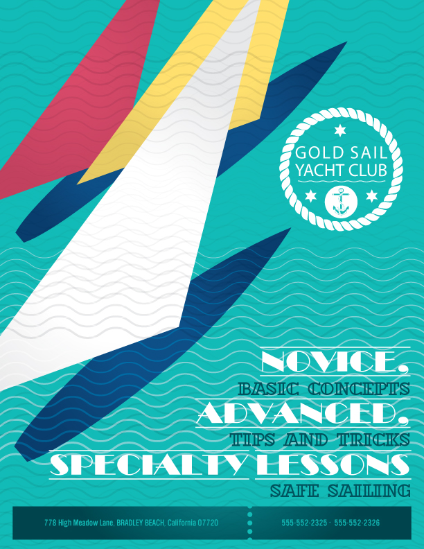 Print Design - Gold Sail Yacht Club