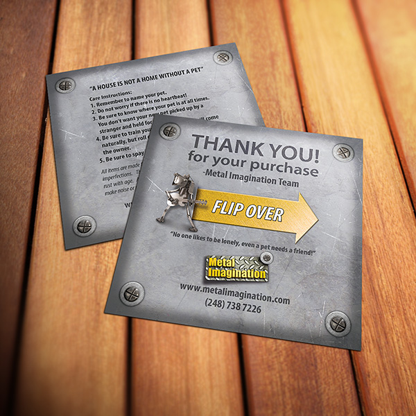 Print Design - Metal Imagination Flyers