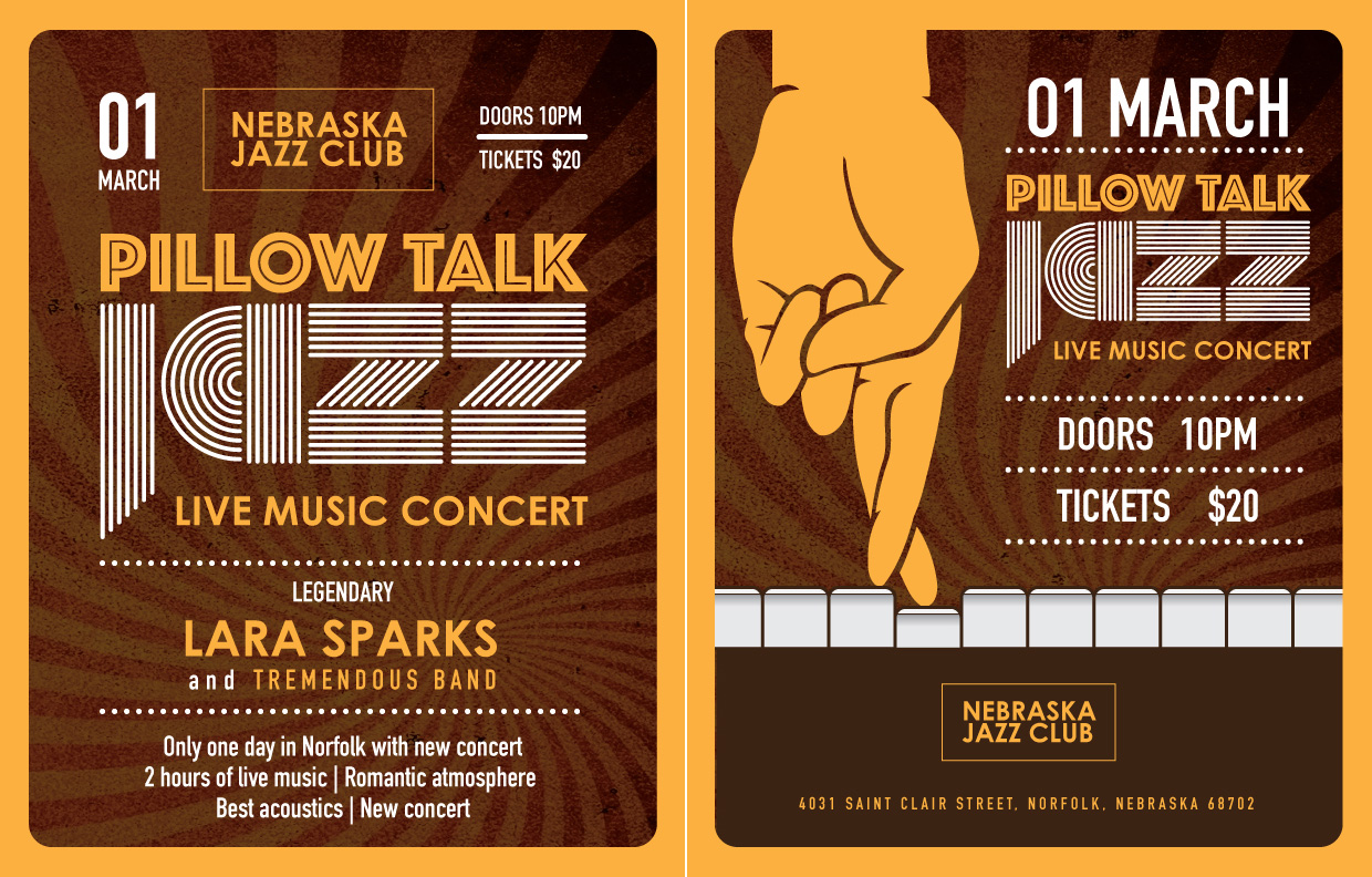 Print Design - Pillow Talk Jazz