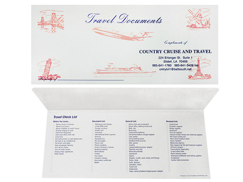 Travel Scenes Document Folder