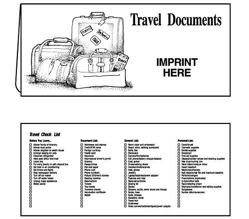 Suitcase Travel Document Folder