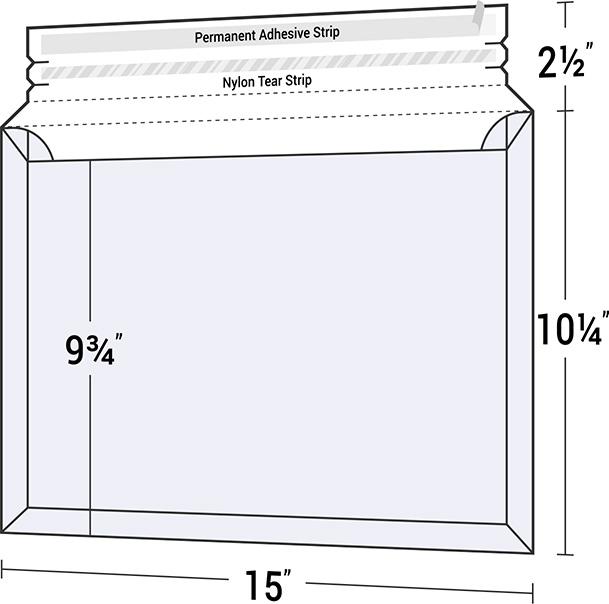 Legal Size Expanding Mailer Envelope - Pocket Folder Envelopes