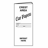 01-01-001 Car Papers Document Folder