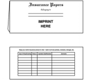 01-01-018 Insurance Papers Document Folder