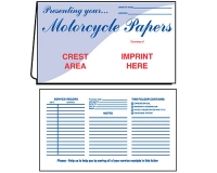 02-01-003 Motorcycle Papers Document Folder