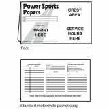 02-01-018 Power Sports Papers Document Folder