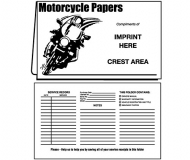 02-01-093 Motorcycle Papers Designed Document Folder