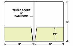 "08-03 Triple-Score 1/2"" Backbone 2 Pocket Folder"