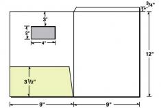 08-16-WIN Fold Down Tab w/ Left Pocket & Window Presentation Folder