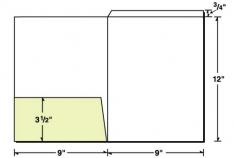 08-16 Fold Down Tab Left Pocket Presentation Folder