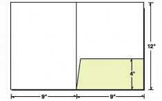 08-29 Square Corners Right Pocket Presentation Folder
