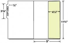08-50 Vertical Pocket Side File Tab Letter Size Folder