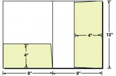 08-57 Vertical & Left Pocket Presentation Folder