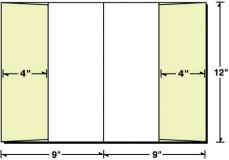 08-58 2 Vertical Pockets Presentation Folder