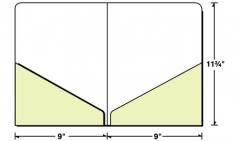08-61 Diagonal 2 Pocket Letter Size Presentation Folder