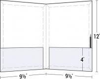 08-65-CON-PEN Conformer® Expanding 2 Pocket Letter Size Folder w/ Pen Holder