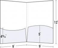 08-80 2 Wavy Pockets Square Corner Presentation Folder