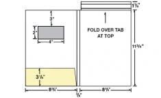 08-84-WIN Left Pocket Presentation Folder w/ Window & Fold Down Tab