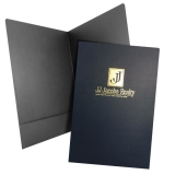 08-97 Foil Stamped Legal Size Two Pocket Folder