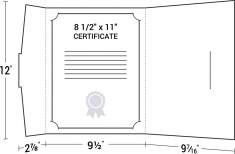 09-10 Wrap Around Letter Size Portfolio Certificate Cover