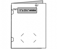 "09-13 4 13/16"" x 1 3/8"" Window 1 Piece Report Cover"