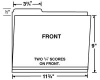 09-24-001 Letter Size Left Tab File Folder