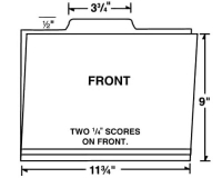 09-24-002 Letter Size Center Tab File Folder