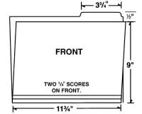 09-24-003 Letter Size Right Tab File Folder